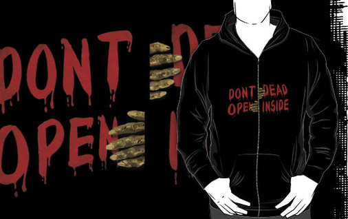Don't Open - Dead Inside (Zipper Hoodie Design)