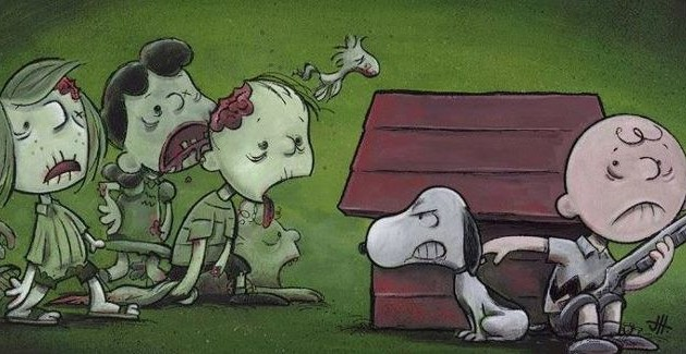Charlie Brown and Snoopy vs Zombies
